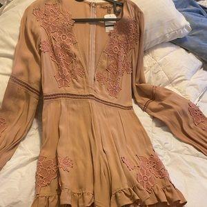 Rose gold Romper dress